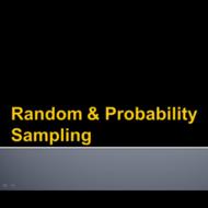 Random & Probability Sampling