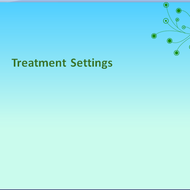 Treatment Settings