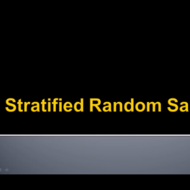 Stratified Random Samples