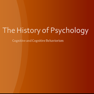 History of Psychology: Cognitive & Cognitive Behaviorism