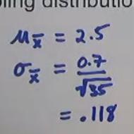 Center and Variation of a Sampling Distribution