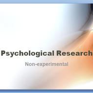 Psychological Research: Non-experimental