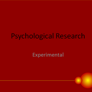 Psychological Research: Experimental