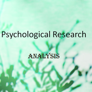 Psychological Research: Analysis