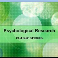 Psychological Research: ClassicStudies