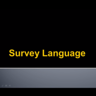 Survey Language