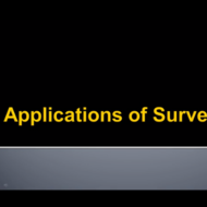 Applications of Surveys