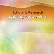 Scholarly Research: Evaluating Journal Articles