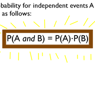 And Probability for Independent Events