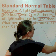 Standard Normal Table Review