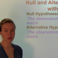 Null and Alternative Hypotheses with Two Samples