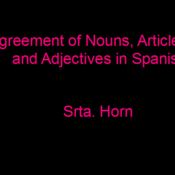 Agreement in Spanish