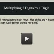 Multiplying 2 Digit Numbers by 1 Digit Numbers