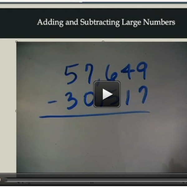 Adding and Subtracting Large Numbers