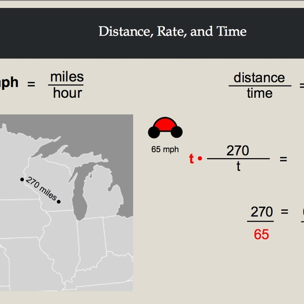 Distance, Rate, and Time