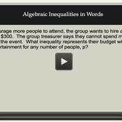 Algebraic Inequalities in Words
