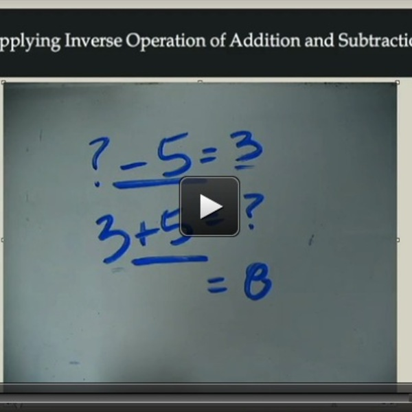Applying Inverse Operations of Addition and Subtraction