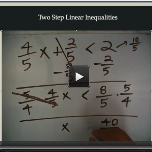 Two Step Linear Inequalities
