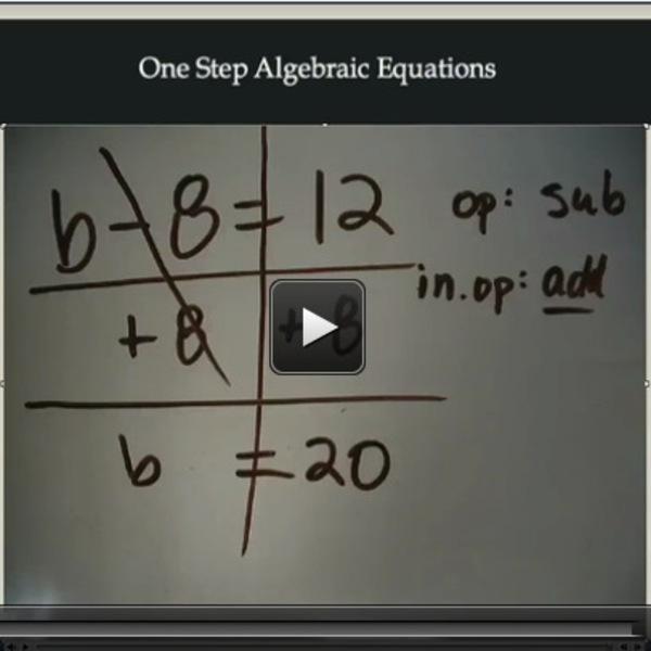 One Step Algebraic Equations