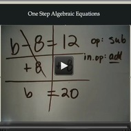 One Step Algebraic Equations