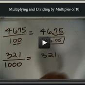 Multiplying and Dividing by Multiples of 10