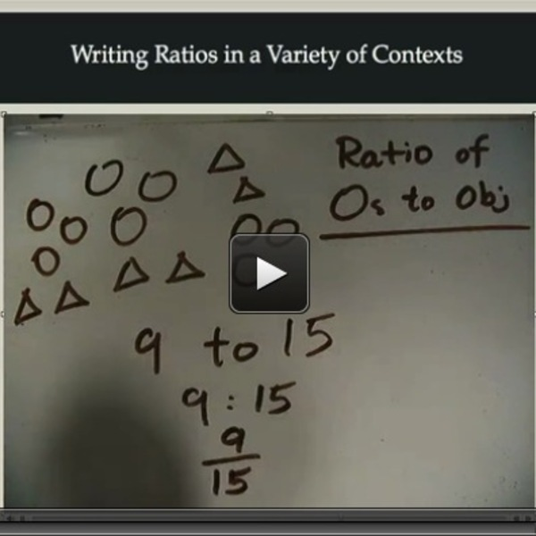 Writing Ratios in a Variety of Contexts