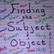 Finding the subject and object