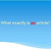 What exactly is an article?