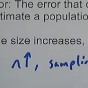 Sampling Error and Sample Size