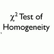 Chi-Square Test for Homogeneity