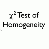 chi-square test for homogeneity