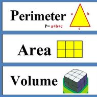 Area, Perimeter and Volume