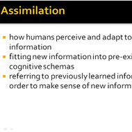 Cognitive Development: Assimilation and Accommodation