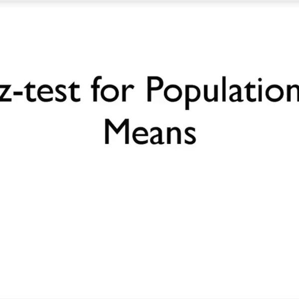 Z-Test for Population Means
