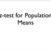 Z-Test for Population Means