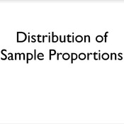 Distribution of Sample Proportions