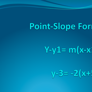 5.3 Write Linear Equations in Point-Slope Form