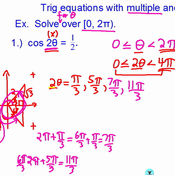 Trig equations with multiple angles