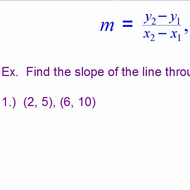 Finding the slope of a line