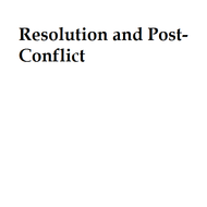 Resolution and Post-Conflict