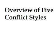 Overview of 5 Conflict Styles