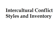 Intercultural Conflict Styles and Inventory