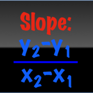 Slope from two points