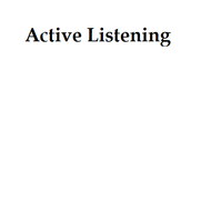 Active Listening Overview