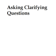 Asking Clarifying Questions