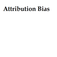 Attribution Bias