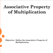 Associative Property of Multiplication