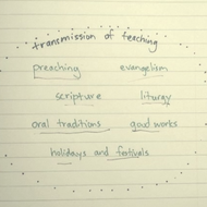 Transmission of the Teaching