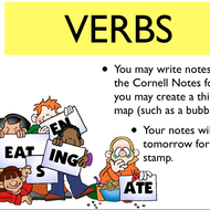 Parts of Speech Overview Ch. 3 - VERBS