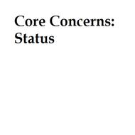 Core Concerns: Status